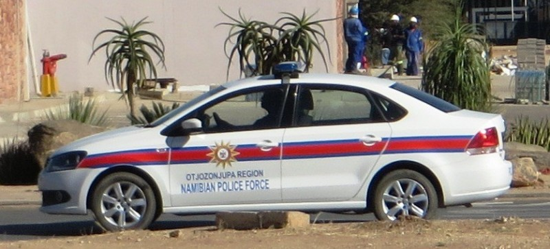 Polizeikontrolle in Namibia
