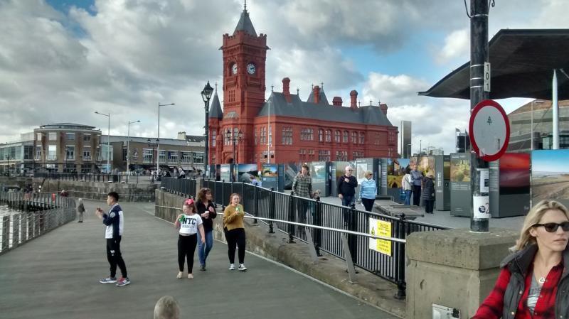 Cardiff, Bay Region an einem Sonntag