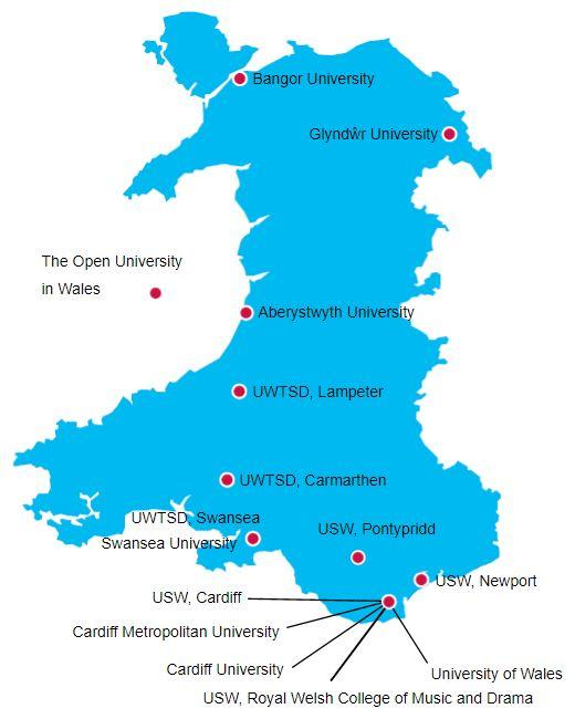 Universitäten in Wales